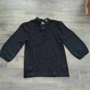 H&M black size M lace blouse